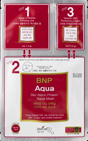Dm.Cell BNP Aqua 3-ступенчатая маска для лица с Bio-Nano Protein  (1 штука)