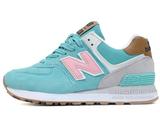 Кроссовки Женские New Balance 574 Suede Turquoise Blue Pink