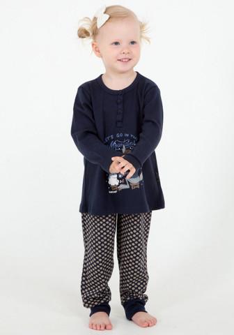 Домашний костюмчик для девочки с зимним рисунком