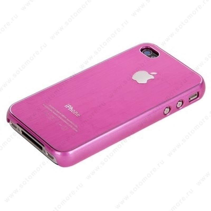 Накладка SGP металлическая для iPhone 4s/ 4 розовая