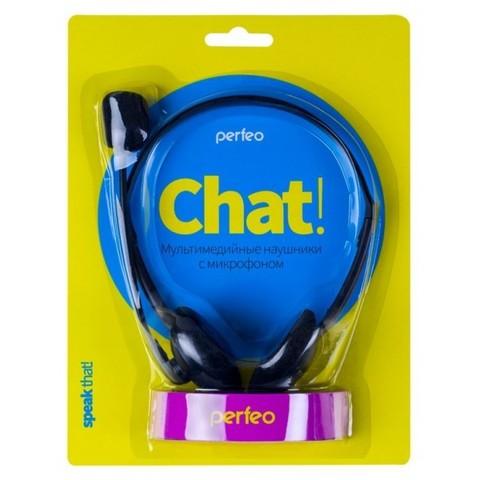 Гарнитура Perfeo Chat, черные, 1.2m