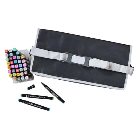 Набор спиртовых маркеров TOUCH COOL в сумке-пенале с наплечным ремнем, 202 цвета