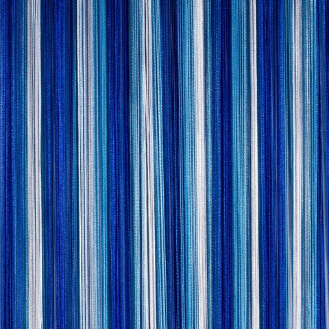 Кисея радуга белая, синяя, голубая оптом. Арт.1-11-208