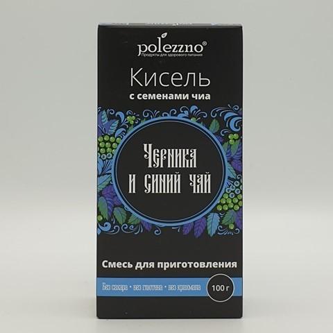 Кисель Черника и синий чай POLEZZNO, 100 гр