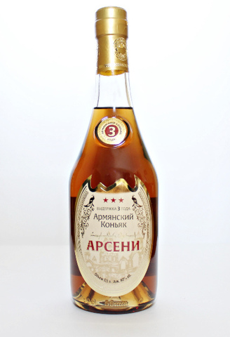 Коньяк Арсени 3 года 0,5л.