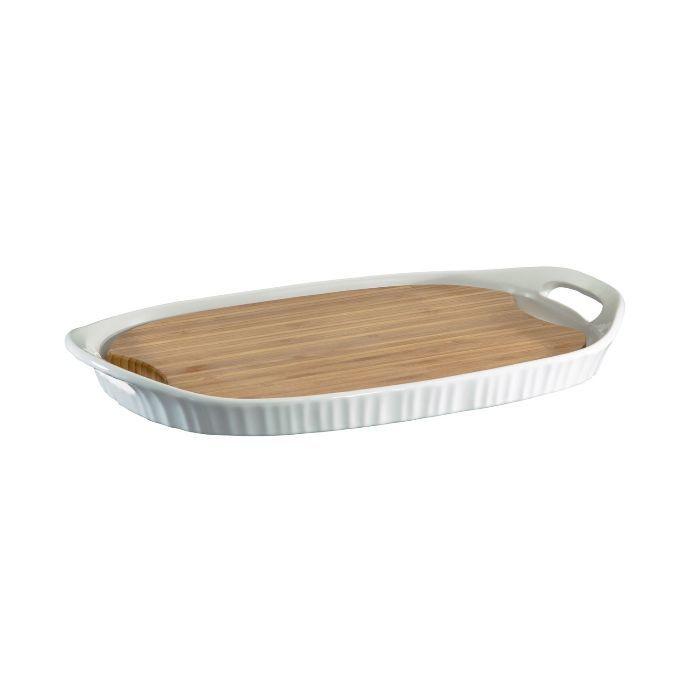 Форма прямоугольная 40х25 см с бамбуковой доской, артикул 1105942, производитель - Corningware