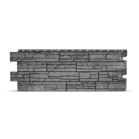 Фасадная панель Деке Камень 1098х400 мм Антрацит