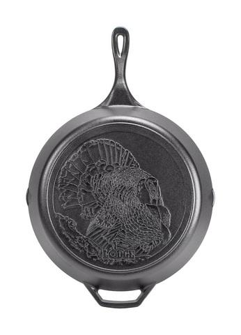 Сковорода чугунная  с лого Индейка, артикул L12SKWLTKY