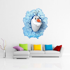 Холодное сердце 3D наклейка снеговик Олаф