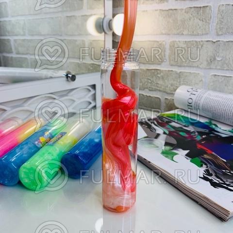 Перламутровые слаймы в бутылках «Волшебная радуга» набор 6 штук