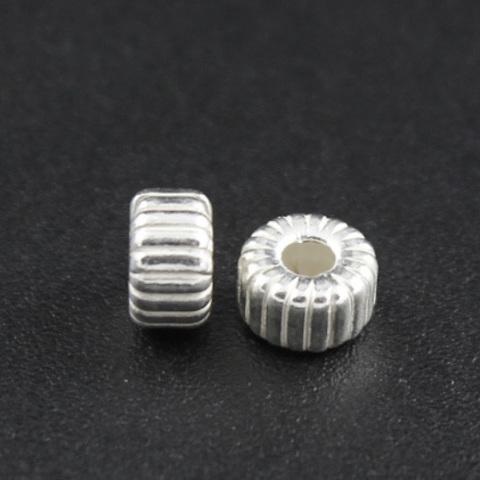 Рондель разделитель с насечками 5 х 3 мм серебро 925