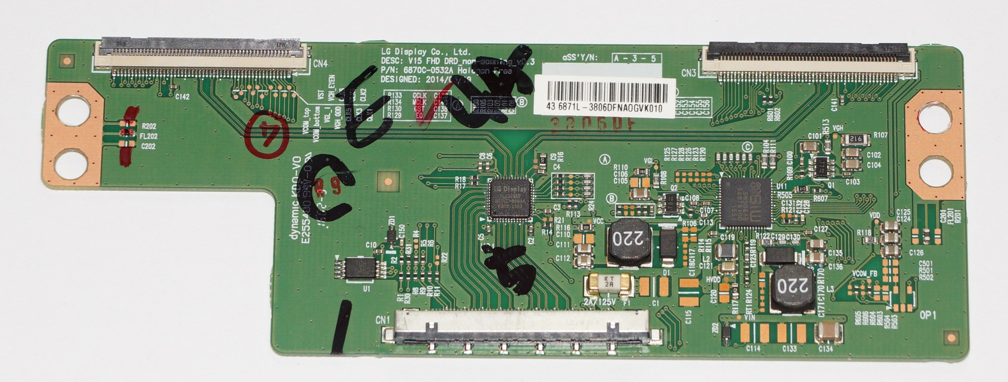 6870C-0532A V15FHD DRD t-con телевизора LG