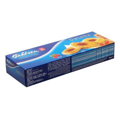 Печенье слоеное Bahlsen Deloba с красной смородиной 100 г