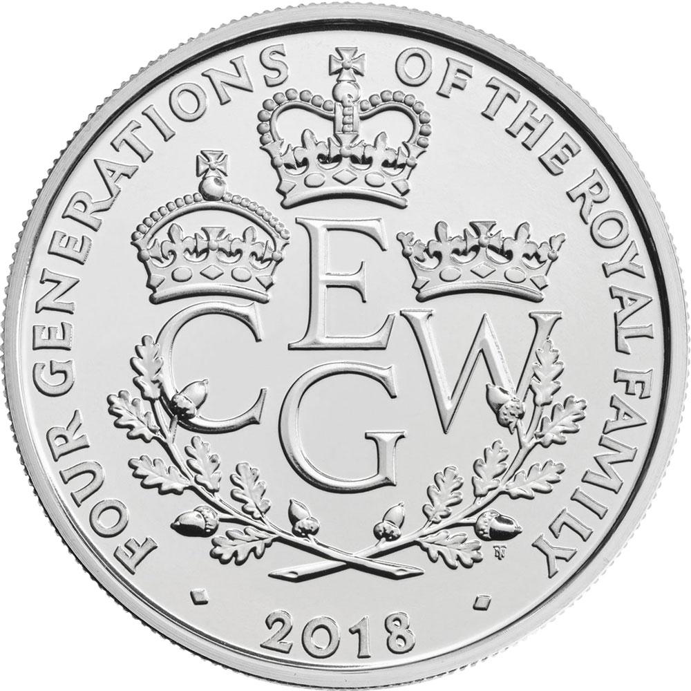 5 фунтов. Четыре поколения королевской семьи (Four Generations of the Royal Family). Великобритания. 2018 год. В буклете