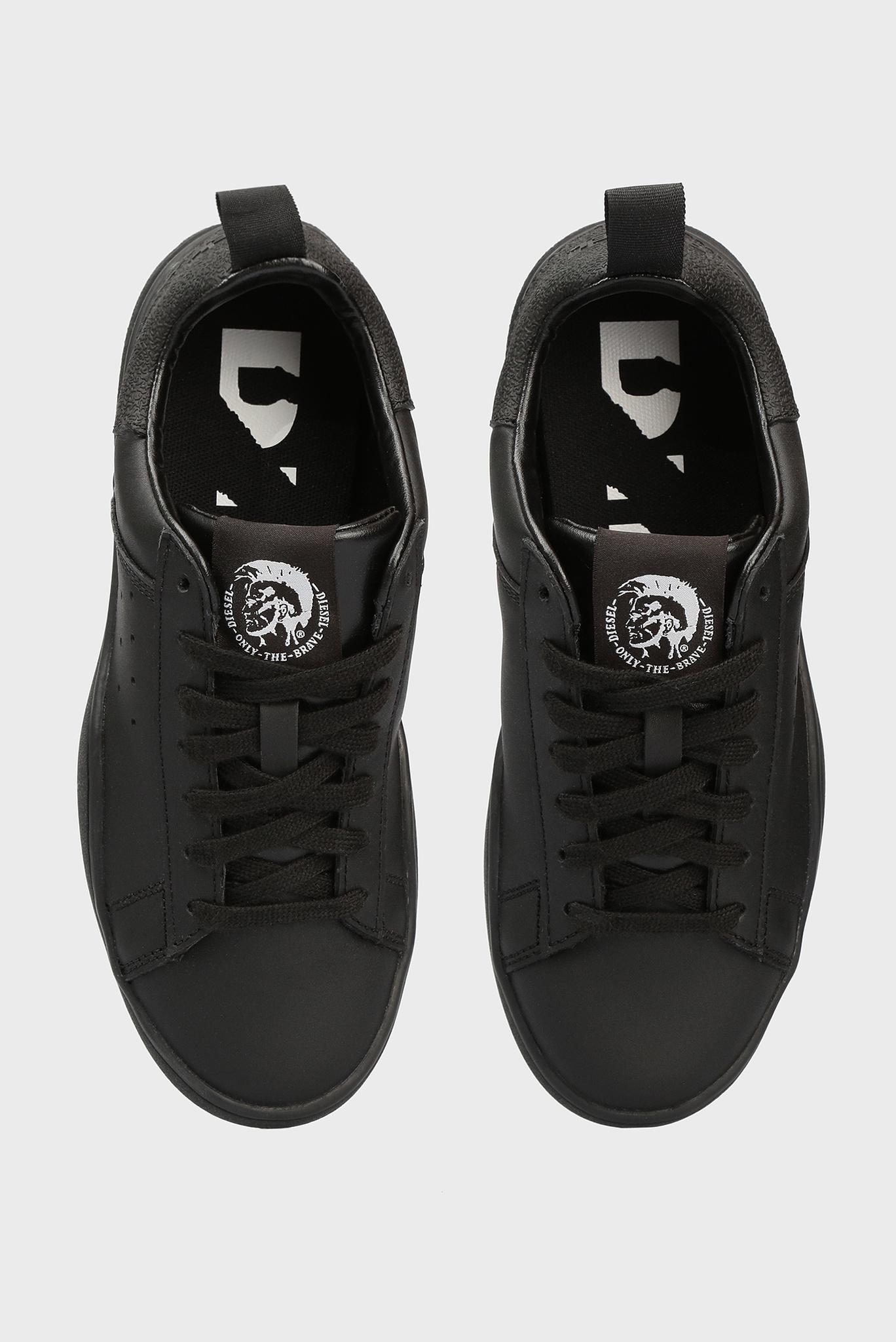 Женские черные кожаные сникеры Diesel