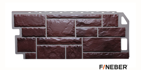 Фасадная панель Fineber Камень коричневый 1137х470 мм