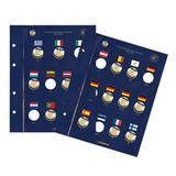 Лист 30 лет флагу ЕС для монет 2 евро в альбом Vista. (Упаковка 2 шт.) Leuchtturm