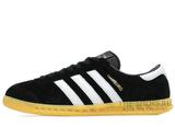 Кроссовки Мужские Adidas Hamburg Suede Black White Beige