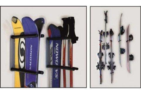 Прорезиненный блок для крепления лыж и сноуборда (крепление к стене)