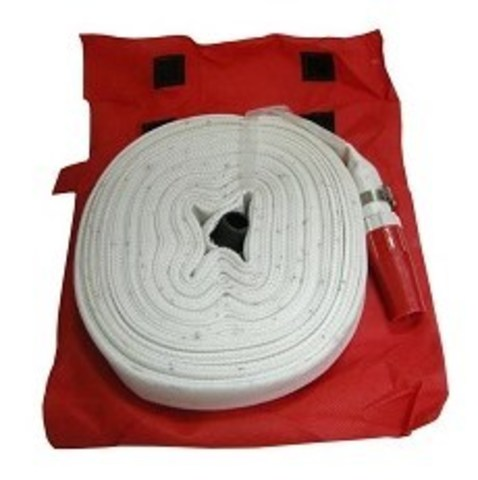 Рукав пожарный УВПС (19 рукав белый тканный в компл. в сумке)