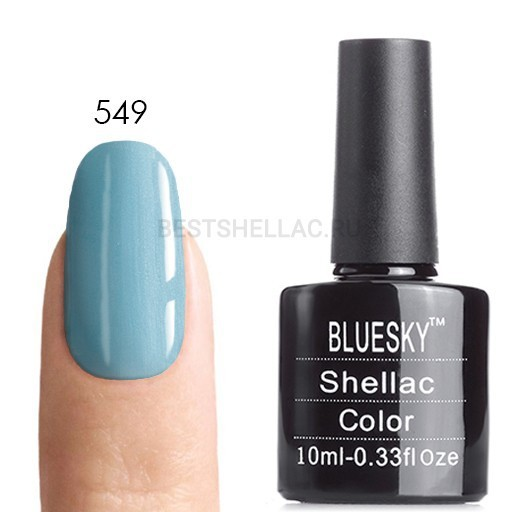 Bluesky Shellac 40501/80501 Гель-лак Bluesky № 40549/80549 Azure Wish, 10 мл 549.jpg
