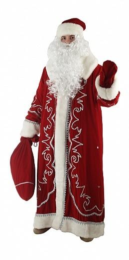 Костюм Дед Мороз Боярский бархат с орнаментом