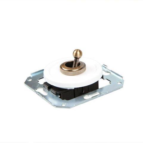 Выключатель тумблерныйный двух позиционный для внутреннего монтажа проходной. Цвет Белый. Salvador. CL41WT