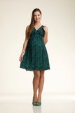 Платье для беременных 06185 темно-синий/белый