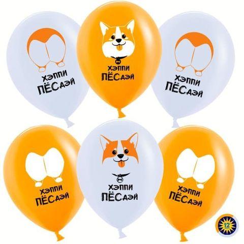 Воздушные шары Веселый корги