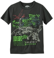 OSH KOSH Футболка со светящимися динозаврами МВ58