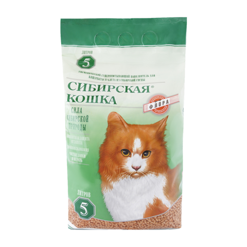Сибирская кошка Флора Наполнитель для туалета кошек древесный