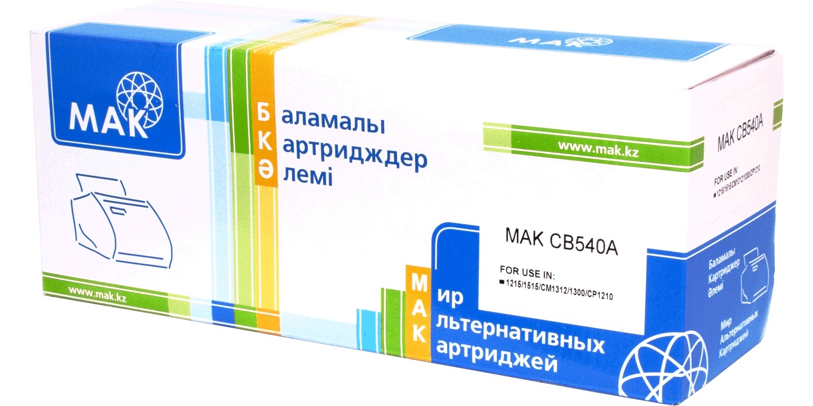 MAK №125A CB540A/Cartridge 316, 716, 416, 116, черный, для HP/Canon, до 2200 стр.