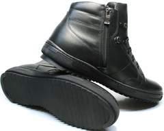 Ботинки на толстой подошве мужские зимние Ikoc 1608-1 Sport Black.
