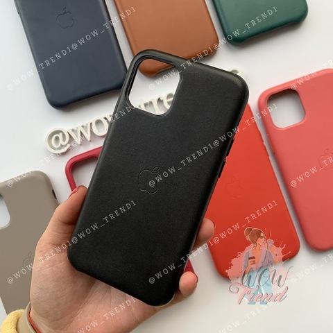 Чехол iPhone 11 Leather Case /black/