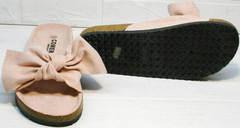 Красивые летние шлепки женские босоножки на плоской подошве Comer SAR-15 Pink.