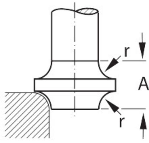 Фреза двухходовая концевая радиусная вогнутая твердосплавная TiAlN
