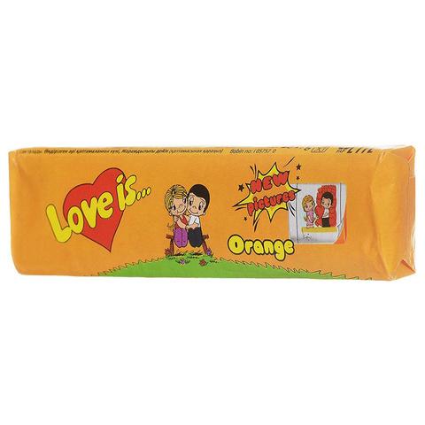 Жевательные конфеты Love Is - новые вкладыши, любимые вкусы (апельсин)