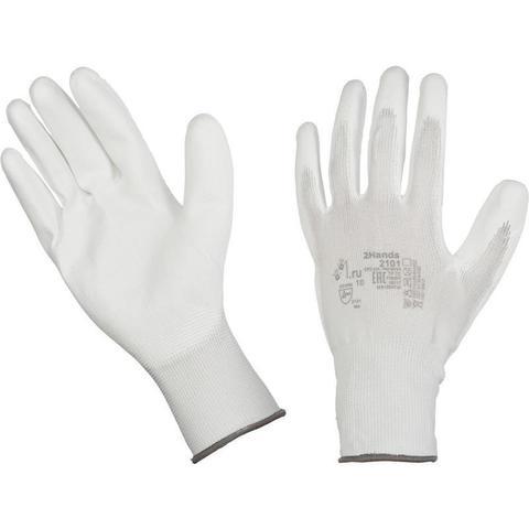 Перчатки рабочие трикотажные нейлоновые с полиуретановым покрытием (размер 9, L)