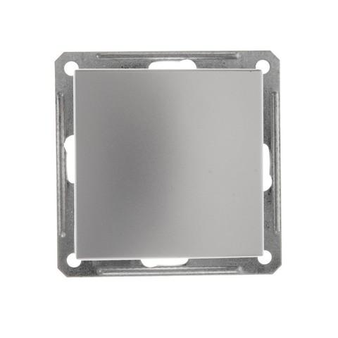 Выключатель одноклавишный, 16АХ. Цвет Матовый хром. Schneider Electric Wessen 59. VS116-154-5-86