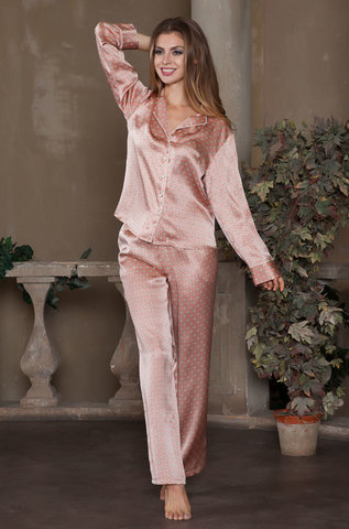 Пижама с брюками натуральный шелк MIA-MIA  Agata АГАТА  15126