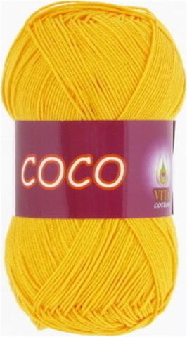 Пряжа Coco (Vita cotton) 3863 Желтый