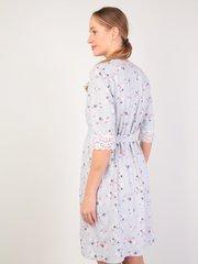 Euromama/Евромама. Комплект халат и сорочка с кружевом, серый клевер вид 4