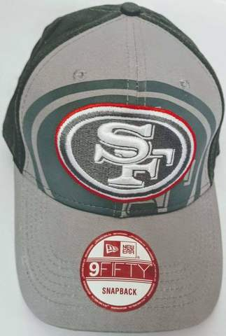 New Era кепка бейсболка серая. Бейсбольная кепка с вышивкой San Francisco 49ers.