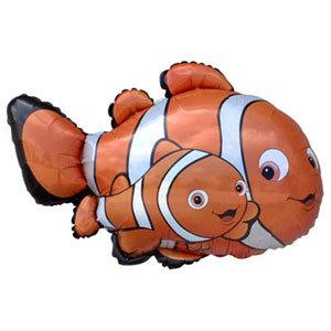 Фольгированный шар Рыбы-клоуны 70 X 93см