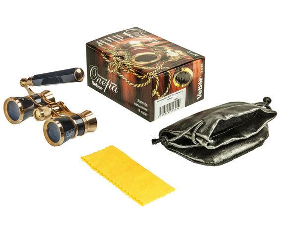 Комплект поставки бинокля БГЦ 3 25 черный лорнет