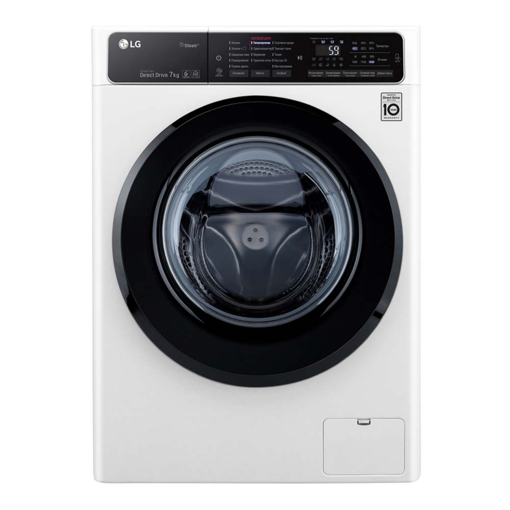 Узкая стиральная машина LG с функцией пара Steam F2H5HS6W фото