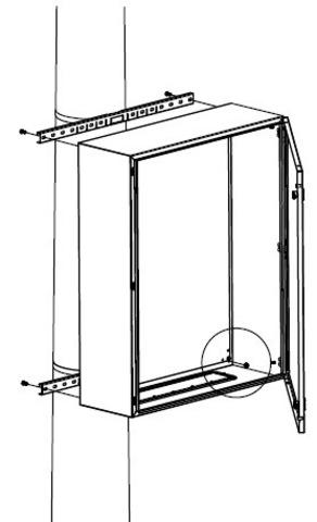 Комплект крепления шкафов CE/RAM box к столбу (ширина шкафа- 300 мм)