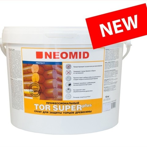 Neomid Top Plus Super для защиты торцов древесины