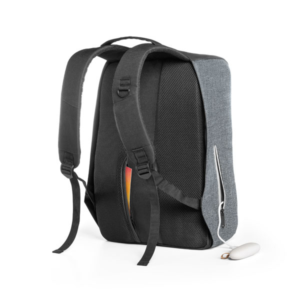 Sargon Laptop Backpack with Waterproof Coating, grey with black