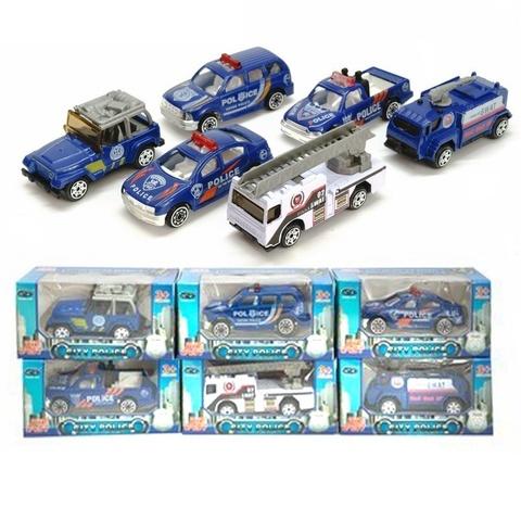 Машина модель 1:64 металл CityPolice в ассорт.в кор.,1кор*1бл*6шт
